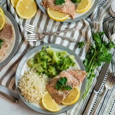 Slow Cooked Lemon Salmon- CE