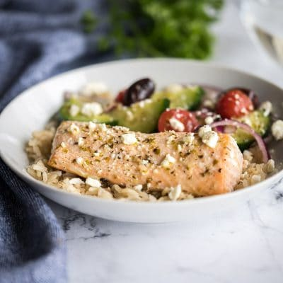 Greek Salmon Bowls – CE