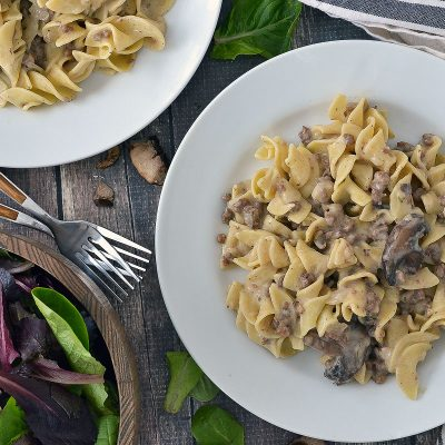 Slow Cooked Ground Beef Stroganoff – GB1