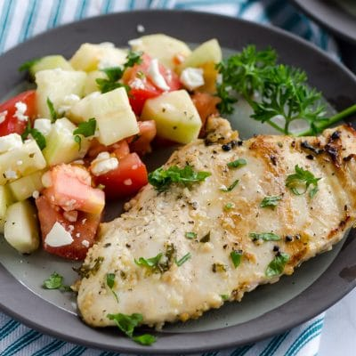 Grilled Chicken with Cucumber Tomato Salad – CE