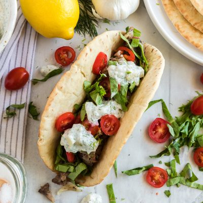 "Greek Beef ""Tacos"" – IP1"