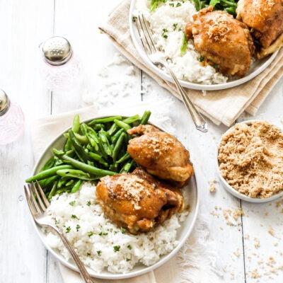 Slow Cooker Garlic Brown Sugar Chicken – C