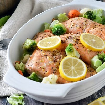One Dish Salmon – CE-sample recipe