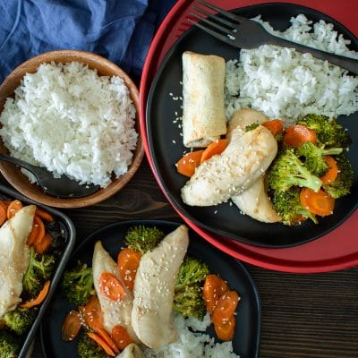 Sheet Pan Asian Chicken and Broccoli – C