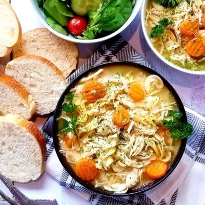 Slow Cooker Chicken Noodle Soup – C