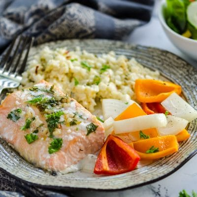 Baked Chili Lime Salmon and Peppers – CE