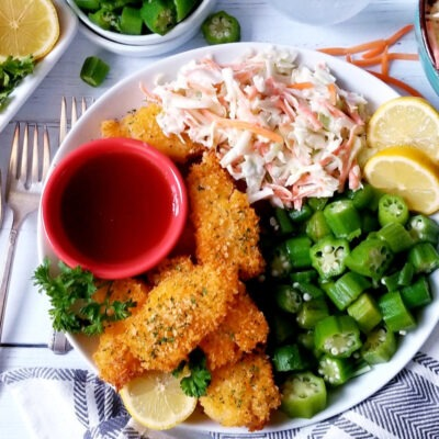 Baked Fish Sticks with Coleslaw – CE