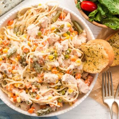 Slow Cooked Chicken Pasta Primavera – C