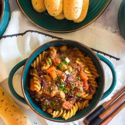 Slow Cooked Pasta Fagioli – C