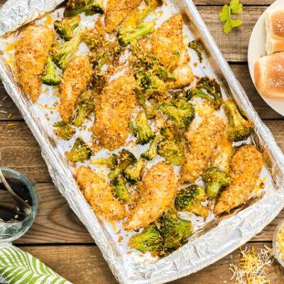 Sheet Pan Taco Chicken and Broccoli – C