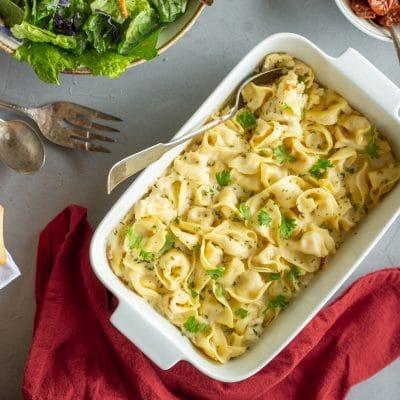 Baked Tortellini Carbonara – C