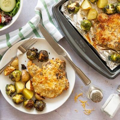 Sheet Pan Crispy Cheddar Pork – C