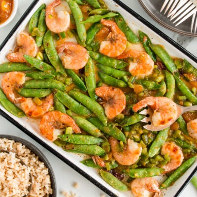Sheet Pan Mango Ginger Shrimp & Veggies – CE