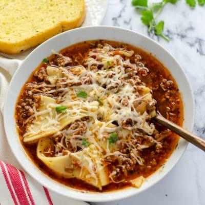 Slow Cooked Lasagna Soup – C