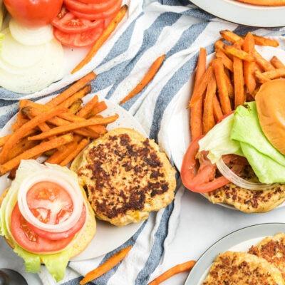 Cheddar Ranch Chicken Burgers – CE