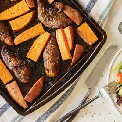 One Pan Chicken and  Sweet Potatoes- CE