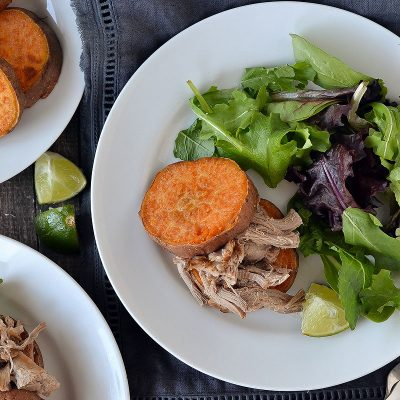 Slow Cooked Pulled Pork with Sweet Potato Buns – W30