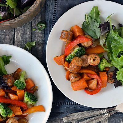 Sheet Pan Chicken Sausage and Roasted Veggies – W30