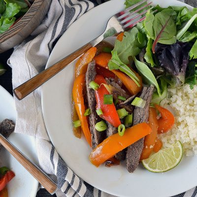 Sheet Pan Steak Fajitas – W30