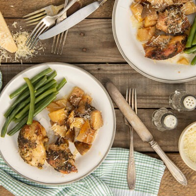 Slow Cooker Garlic Parmesan Chicken – CE