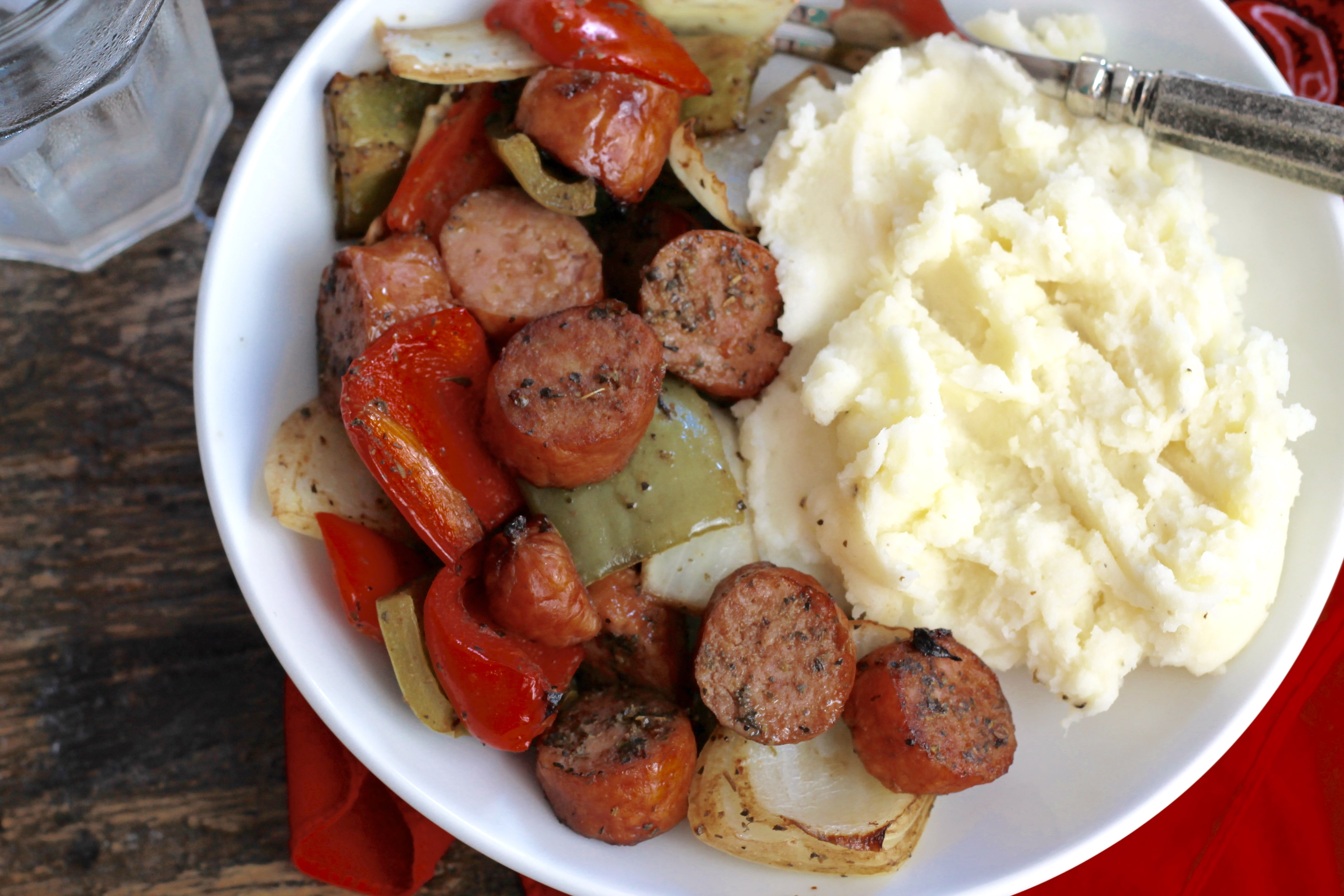 Roasted Sausage, Peppers and Onions – C-sample recipe