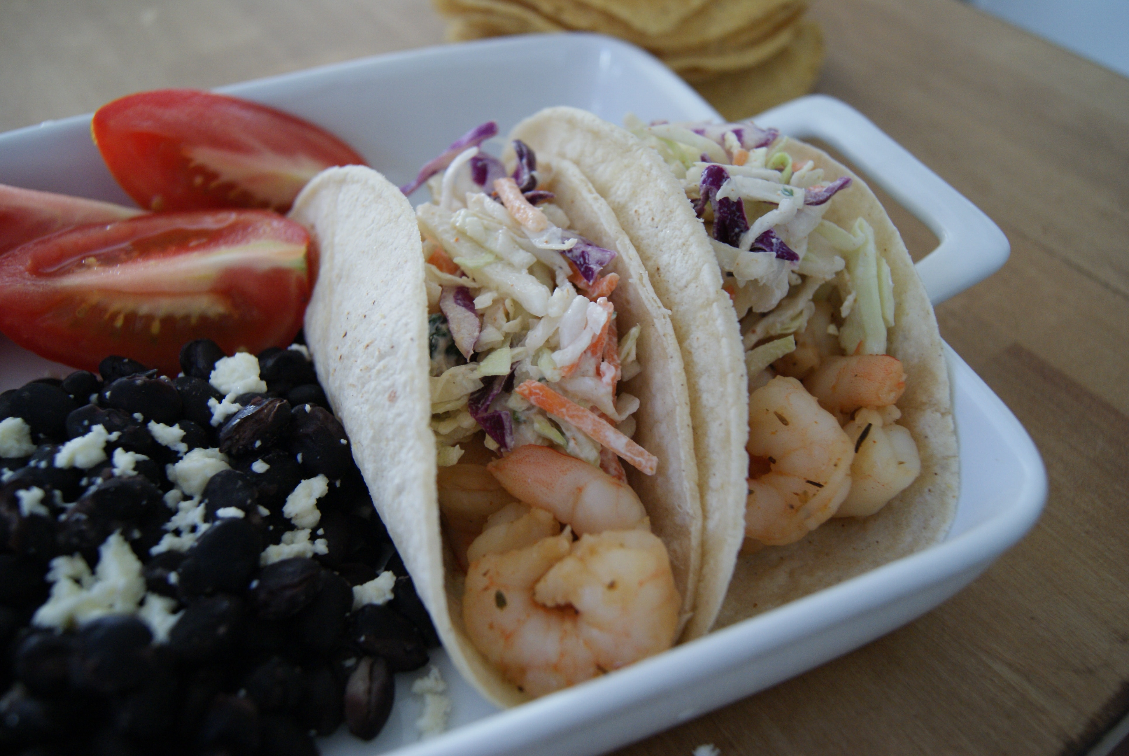 No Cook Shrimp Tacos