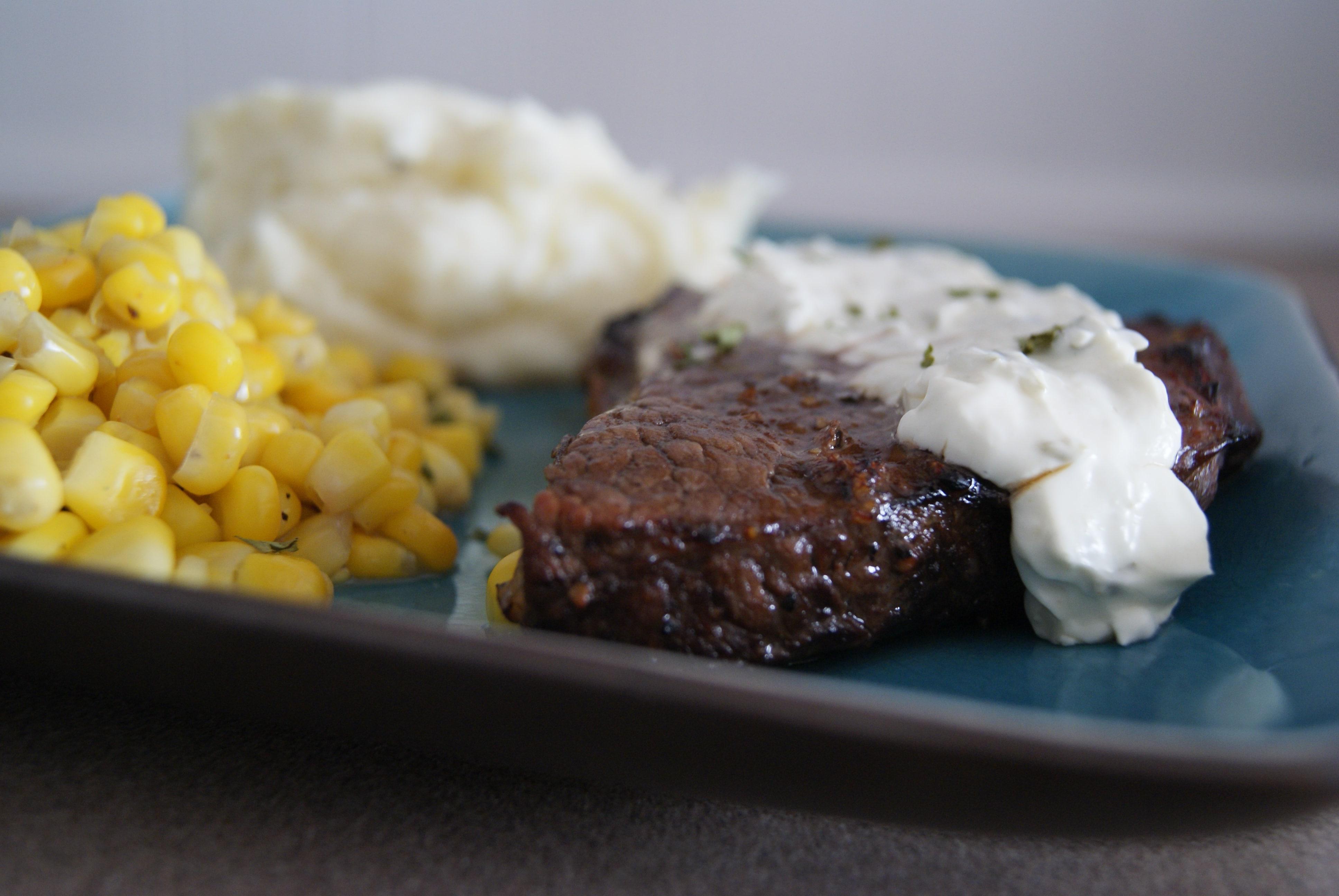 Balsamic Steak with Cream Sauce