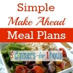 Make Ahead Meal Plans