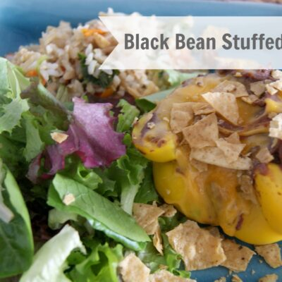 Gluten Free Black Bean Stuffed Bell Peppers