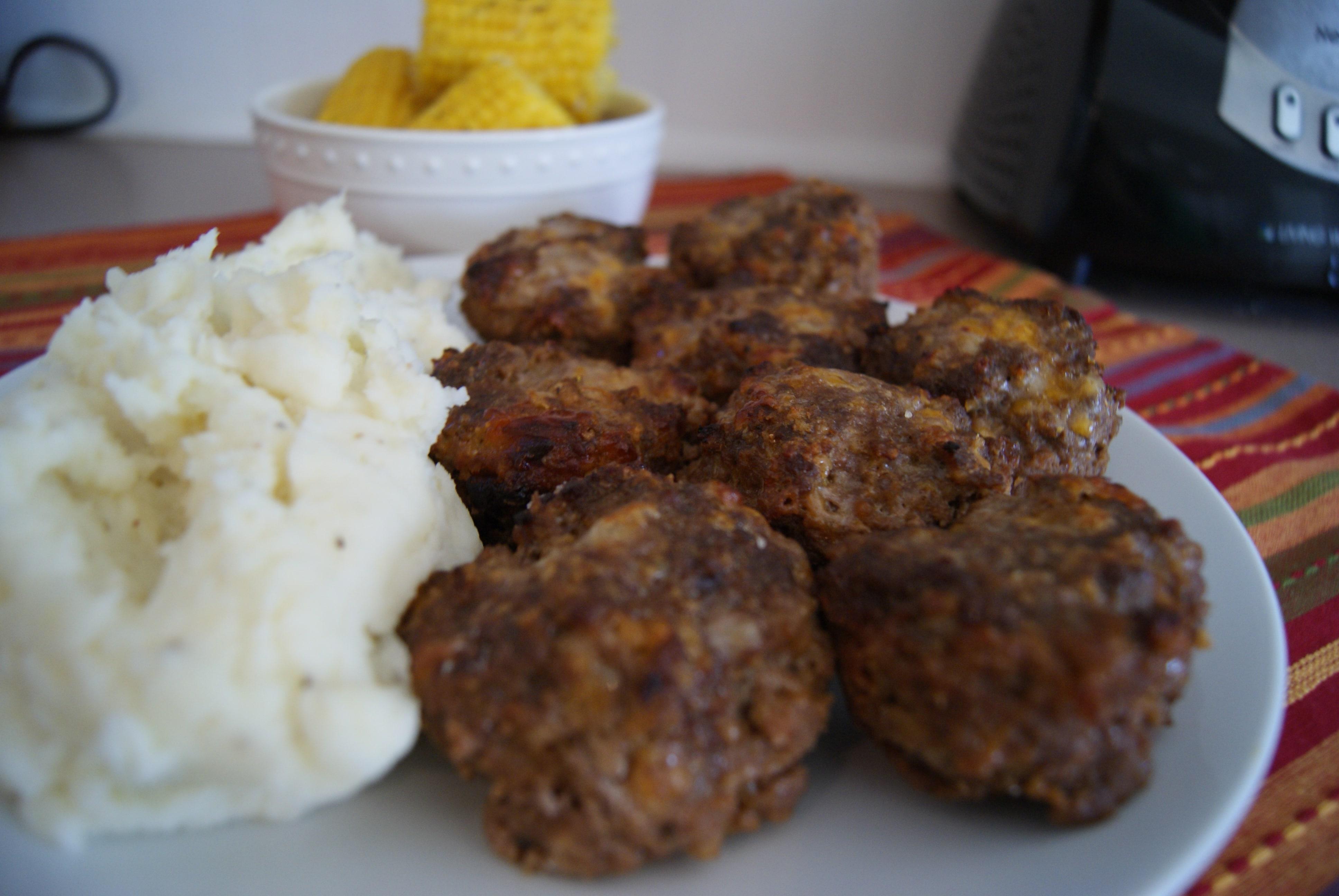 Mini Honey Mustard Meatloaves