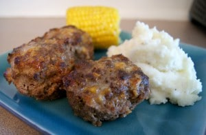 mini honey mustard meatloaves