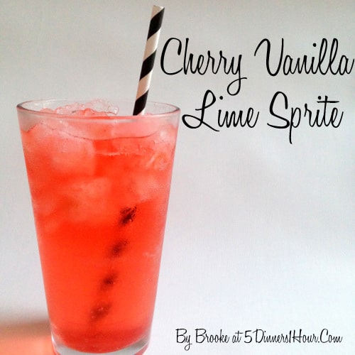 Thirsty Thursday: Cherry Vanilla Lime Sprite by Brooke @5Dinners1Hour.Com