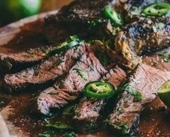 grilled jalepeno steak