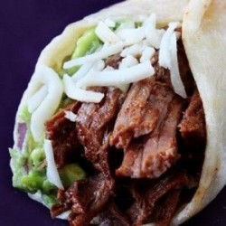 slow cooked shredded beef tacos