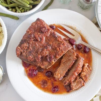 Slow Cooked Cranberry Brisket – C