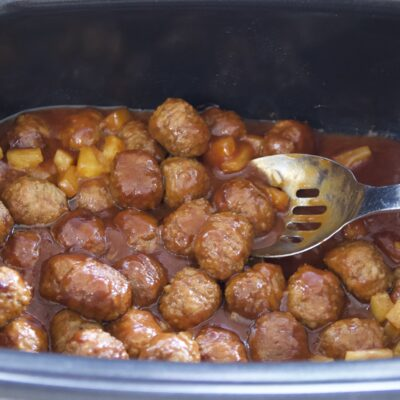 Slow Cooked BBQ Meatballs