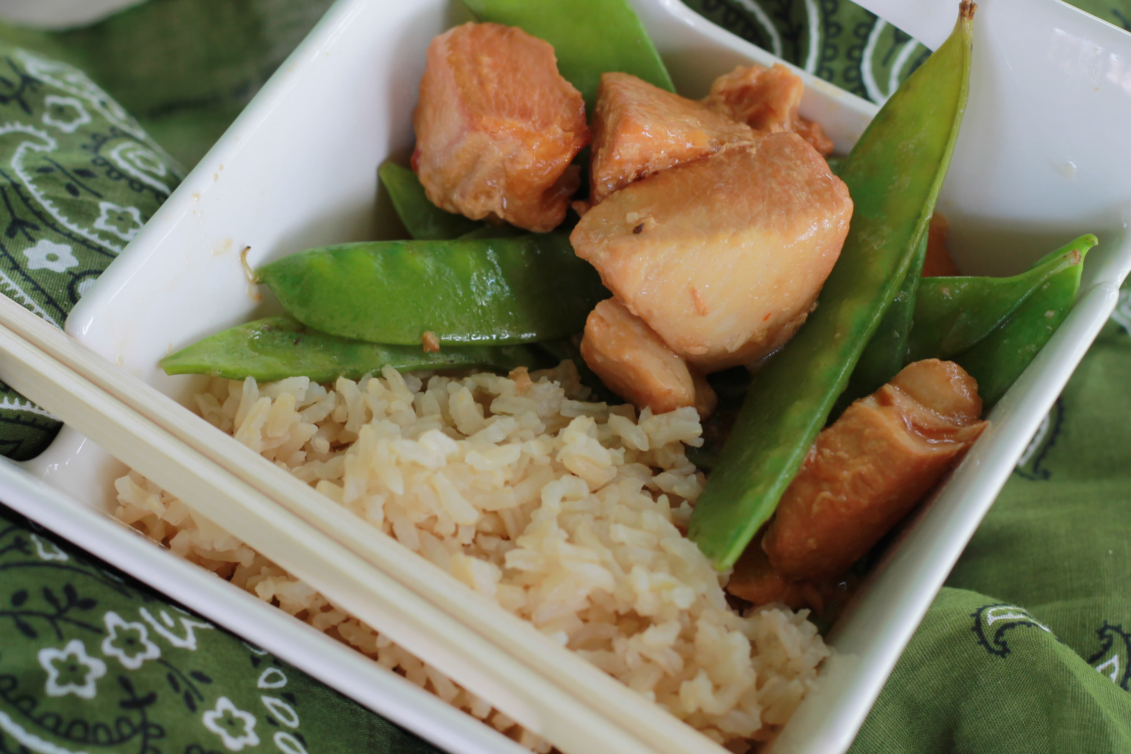 Slow Cooker Asian Chicken & Snow Peas