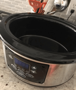 6qt crock pot on a counter