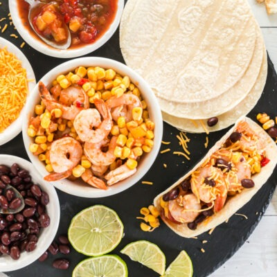 Oven Baked Shrimp and Corn Tacos – C