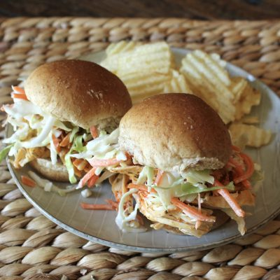 Slow Cooked Buffalo Chicken Sliders