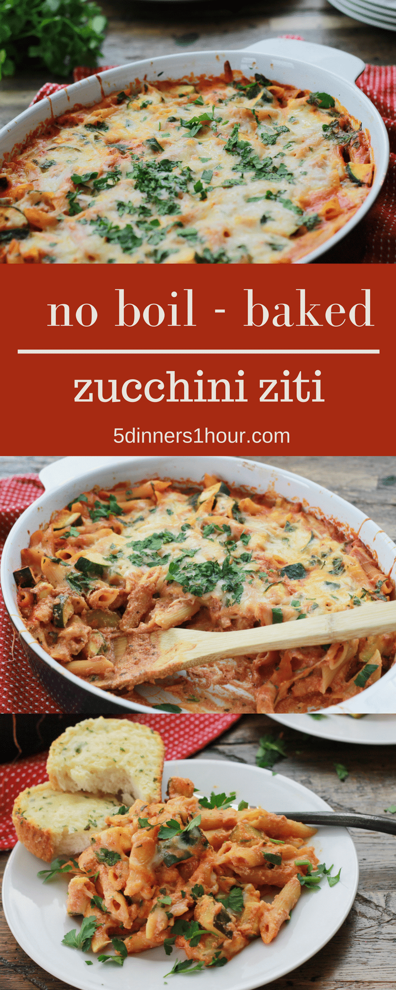 Baked Zucchini Penne Pasta 5 Dinners In 1 Hour