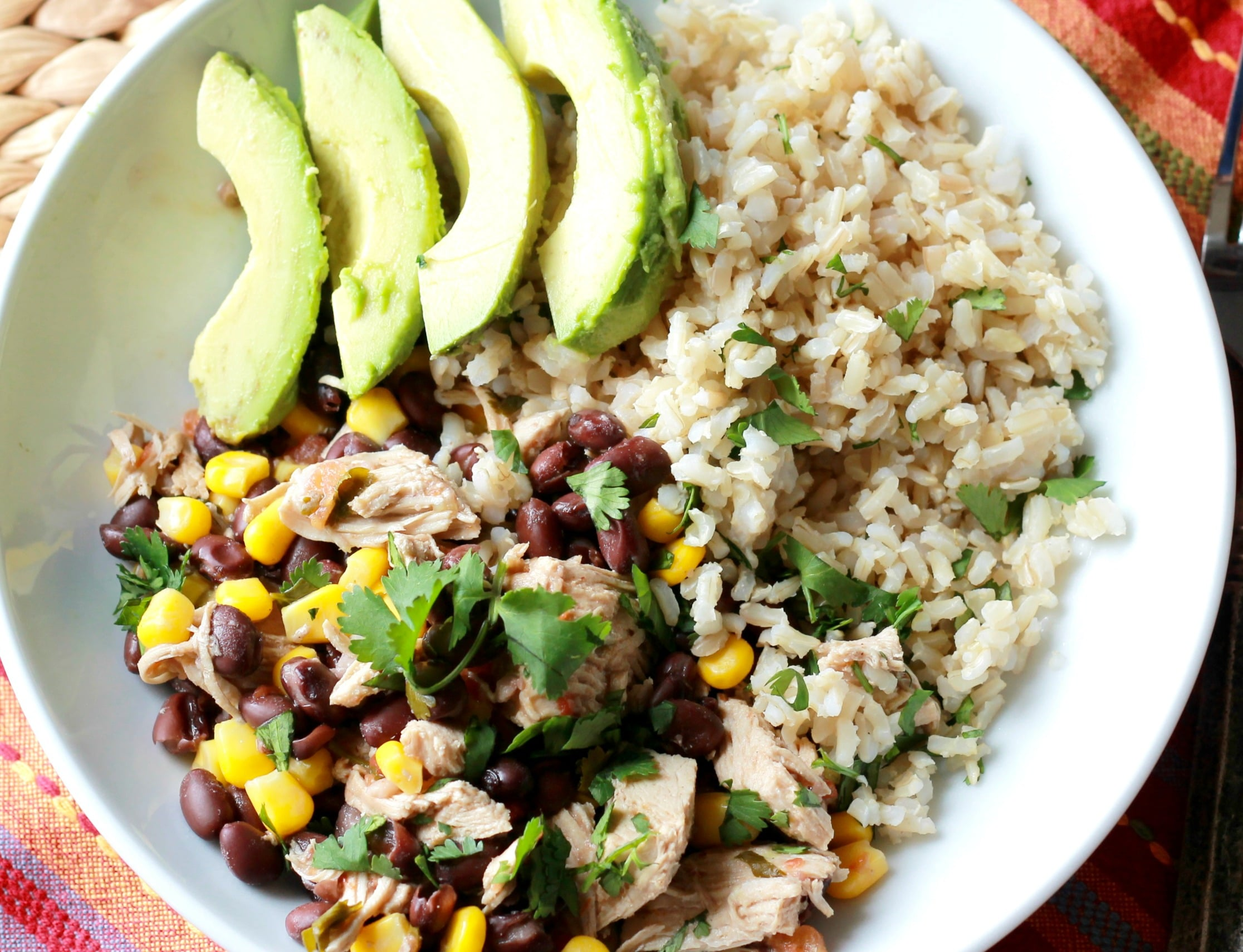 Slow Cooked Fiesta Chicken Bowls – GF