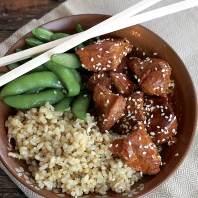Slow Cooked Honey Sesame Chicken