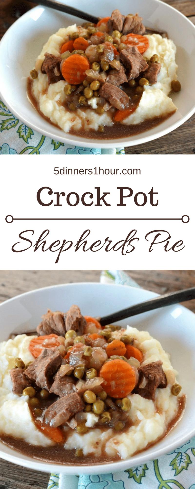 Slow Cooker Shepherds Pie - 5 Dinners In 1 Hour