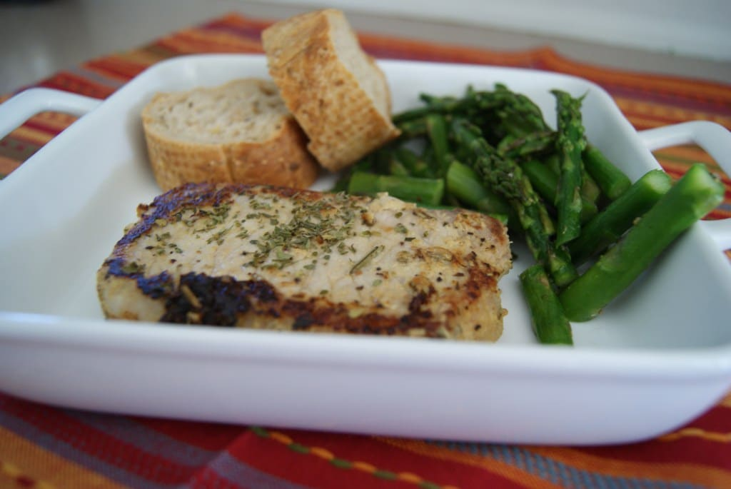 Herbed Pork Chops - GF - 5 Dinners In 1 Hour