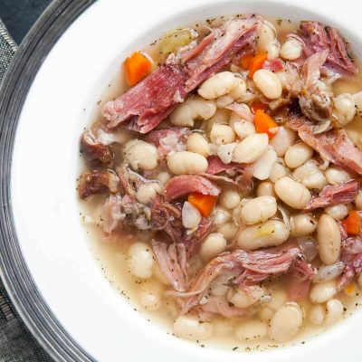 Slow Cooker White Beans and Ham – FF
