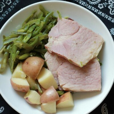 Slow Cooker Ham Dinner