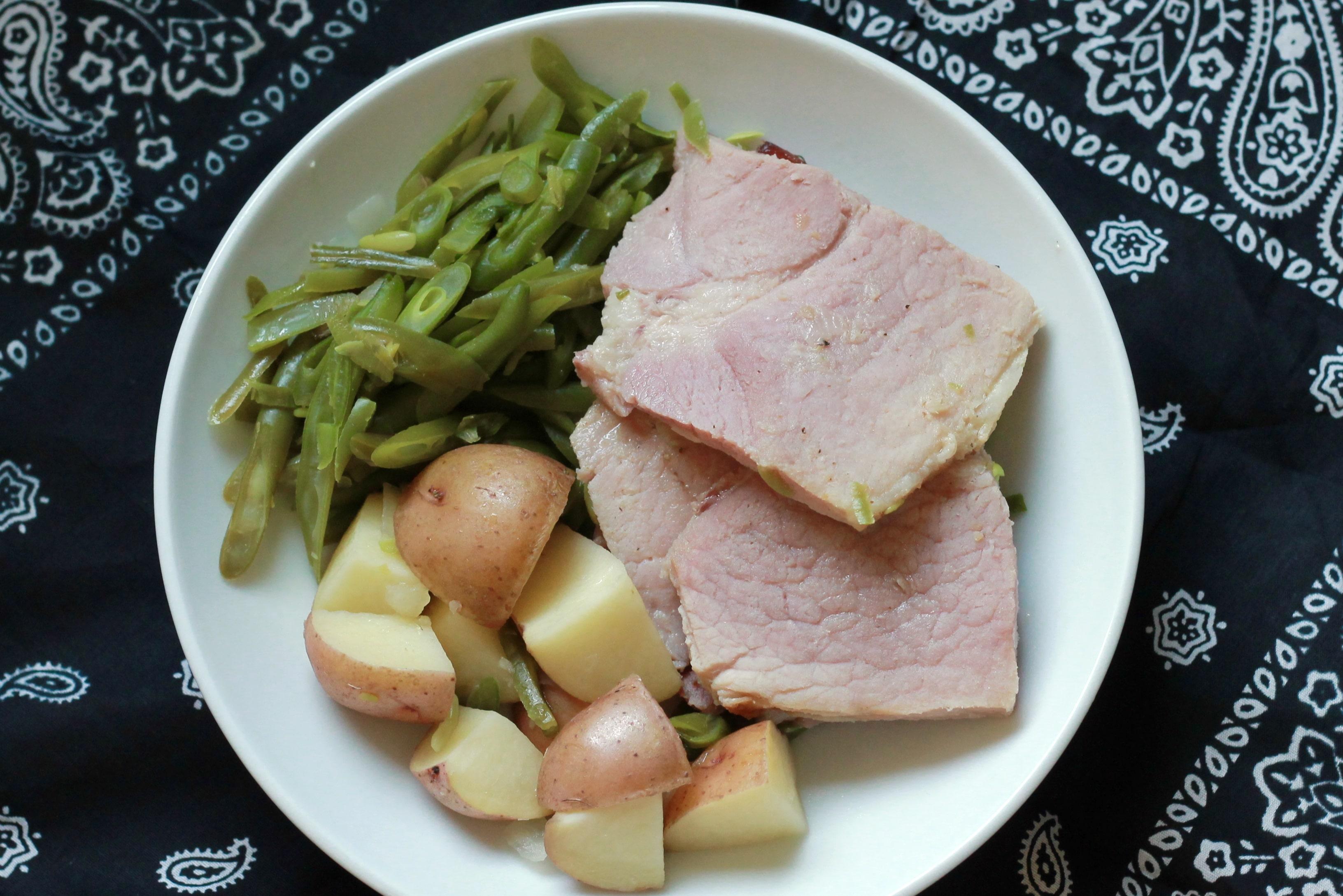 Slow Cooker Ham Dinner