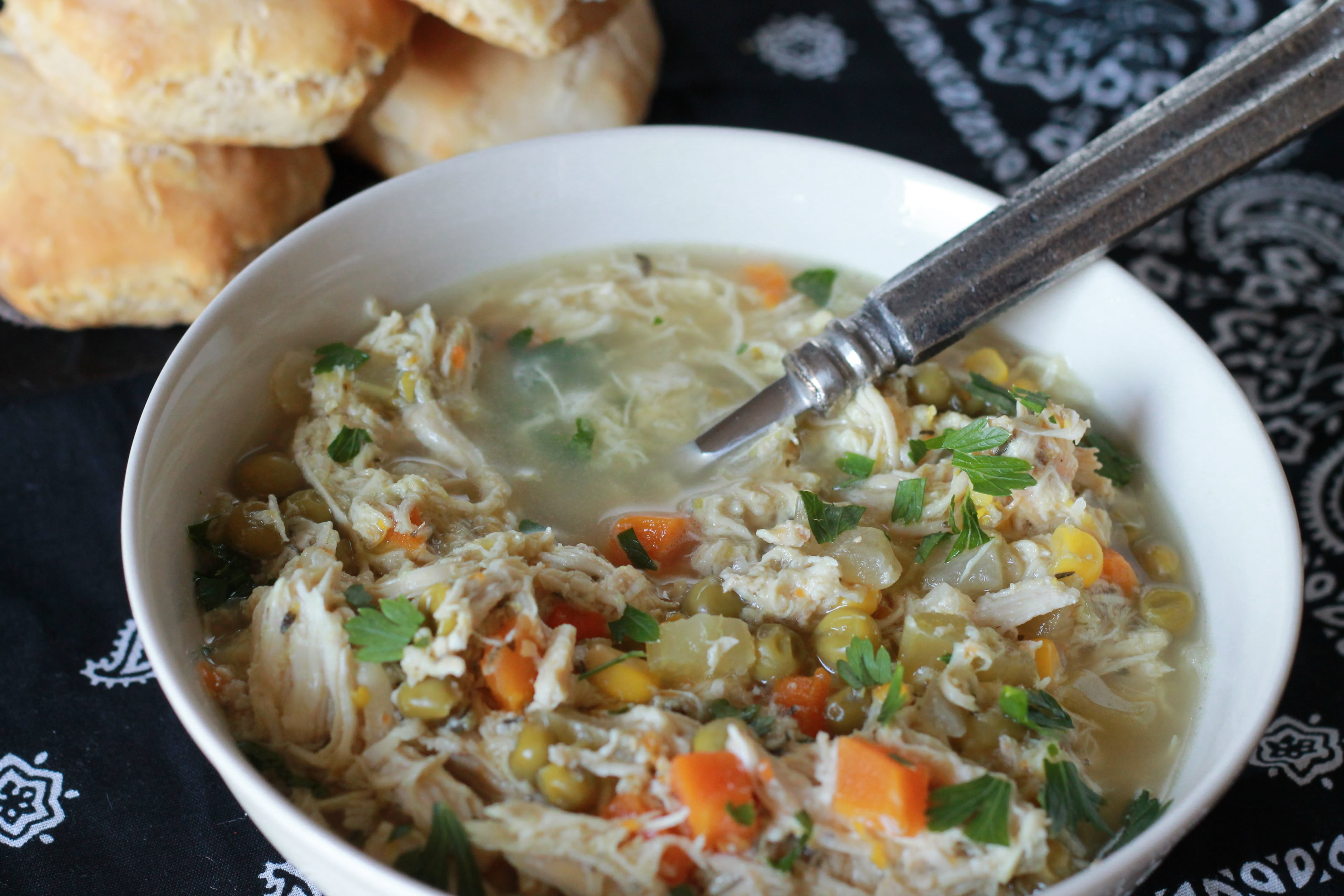 Slow Cooked Chicken Pot Pie Soup