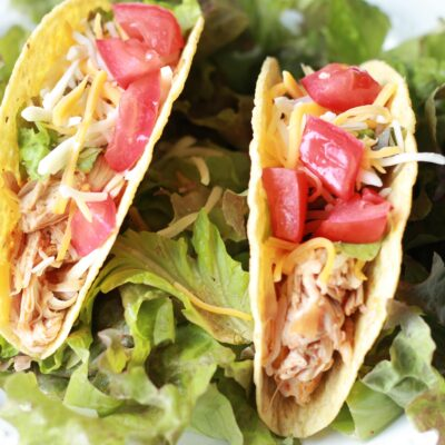 Slow Cook Enchilada Chicken Tacos